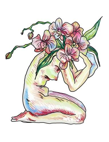 kneeling orchid